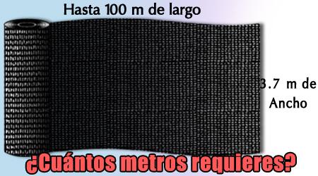 c405ead200ba Metro de largo Malla Sombra al 35% de 3.7 m ancho (IVA 16 ...